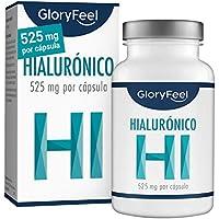 Àcido Hialurónico puro 525mg altamente concentrado - 90 Cápsulas veganas - Probado en laboratorios - Sin aditivos y fabricado en Alemania