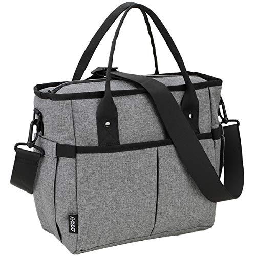 RAVUO - Bolsa de almuerzo para mujer, resistente al agua, grande, aislante, bolsa térmica para almuerzo, organizador para adultos, para oficina, trabajo, picnic, senderismo,...