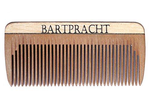 Bart Royal Nature's Premium Bartkamm (8cm), Kamm aus stabilem Hartholz, entwirrt den Bart, handgefertigt, antistatisch, Made in Germany