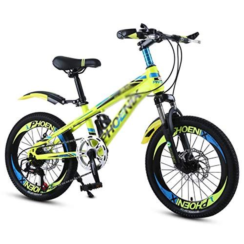 Dalovy Kinderfahrrad, Fahrräder Schulkinder Fahrrad 18 Zoll 20 Zoll Jungen und Mädchen Outdoor-Fahrrad Bergsteigen Mountainbike Variable Speed Fahrrad Geeignet für Studenten