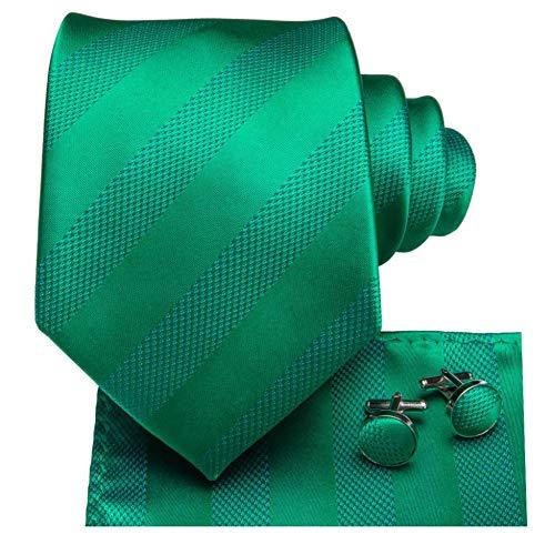 FDHFC 8,5 cm 100% Seide Herren Hellgrün Krawatte Plaid Krawatte Manschettenknöpfe Set Für Männer Klassische Party Hochzeit Krawatte Set