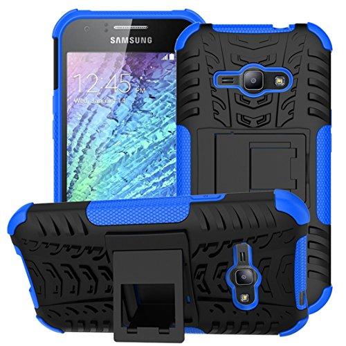 Custodia ACE di Samsung Galaxy J1, 2 in 1 resistente robusto Struttura robusta dello pneumatico del ibrido TPU ibrido della cassa del basamento del PC del TPU per la galassia J1 ACE (4.3 pollici)