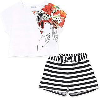 Mayoral Conjunto Short Camiseta Niña Negro 8-18A