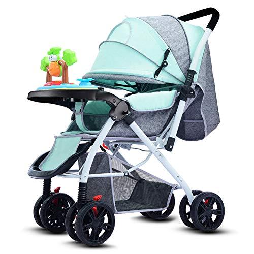 Poussette canne compacte légère, Pliable Landau bébé, Parapluie pour Poussette, poignée réversible/siège inclinable/auvent surdimensionné, du bébé au Bambin de 0 à 36 Mois, Charge 25 kg