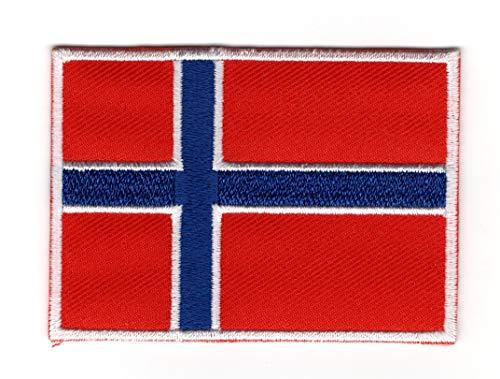 Vlag van Noorwegen (Noors: Norges vlagg) IJzer op patch Naai op Geborduurde Badge toegepast