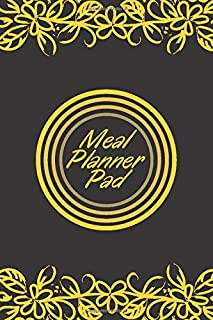 """Meal Planner Pad: Personal Weekly Meal Planner, Weight Loss and Diet Monitor Journal, Record Breakfast, Lunch, Dinner, Snacks, Water Consumption & ... Kids, Men, 6"""" x 9"""", with 110 (Food Planners)"""