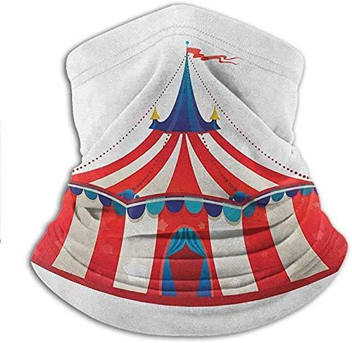 asdew987 Bandana, carpa de circo a rayas coloridas, carpa de carpa con estrellas, carnaval, ilustración deportiva, para el trabajo, trabajo en el patio, trabajo25 x 28 cm