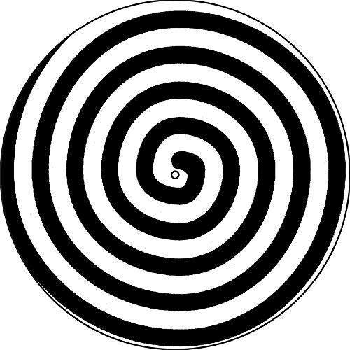 Slipmat Slipmat Kratzmatte Filz für jeden 30,5 cm LP DJ Vinyl Plattenspieler Custom Graphical – Spiral
