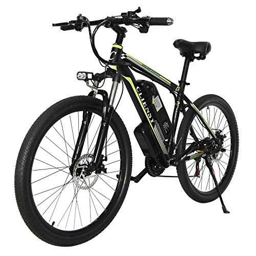 CLIENSY 26' Electric Mountain Bike, 350W Ebike with Removable 36V 10AH Lithium Battery for Adults,...