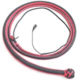 Nylon Paracord Hand Crafted Snake Whip 4 Foot with Complete Leather Belly & Bolster Inside