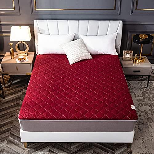 Colchones Colchón de piso japonés Futon Colche, colchón de tatami portátil, colchón de piso coreano para la sala de estar dormitorio, rollo plegable, colchón, tapete de sueño tatami tamaño completo Te