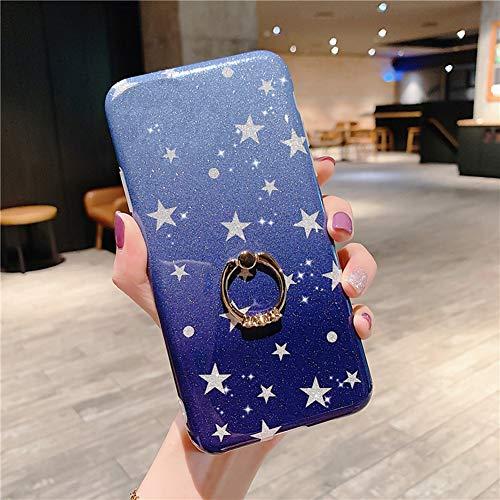 Surakey - Carcasa de silicona para iPhone 11 Pro, Estrella azul