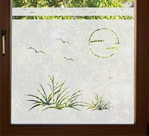 rs-interhandel® GD37 / 80cm hoch Sichtschutz Folie Bad Badezimmer Düne Fenster Sichtschutzfolie Fensterfolie Glasdekor Sichtschutzfolie Window blickdicht wasserfest selbstklebende Folie