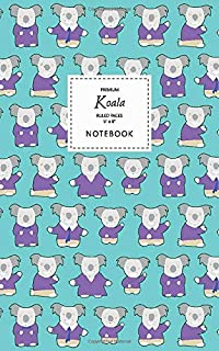 Koala Notebook - Ruled Pages - 5x8 - Premium: (Blue Edition) Fun notebook 96 ruled/lined pages (5x8 inches / 12.7x20.3cm /...