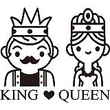 zhuziji Pegatinas de Pared extraíbles Impermeables King y Queen de Nuevo diseño para Habitaciones de niños50x43cm