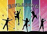 10 bunte Einladungen zum Klettern/Einladungskarten zum Boulder-Kindergeburtstag für Mädchen und Jungen von EDITION COLIBRI (11064) -