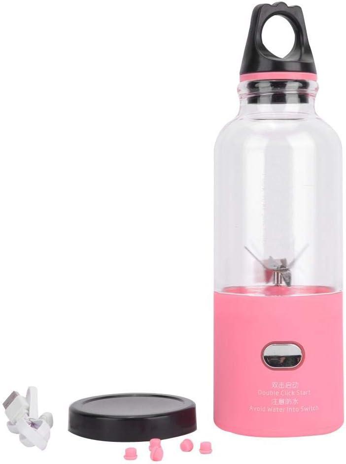 Exprimidor de frutas, exprimidor de verduras Copa 500 ml exprimidor portátil, cocina 4000mAh para el hogar(Pink, 500ML) Pink, 500ml