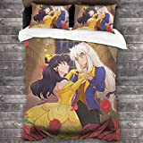 Anime Inuyasha Bettwäsche-Set, 3-teilig, Mikrofaser, Bettbezug, 2 Kissenbezüge, Tagesdecke & Haushalt, 213 x 177,8 cm