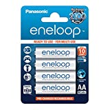 Panasonic eneloop, Ready-to-Use Ni-MH Akku, AA Mignon, 4er Pack, min. 1900 mAh, 2100 Ladezyklen, starke Leistung und geringe Selbstentladung, wiederaufladbare Akku Batterie