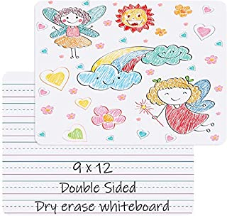 Small Dry Erase White Board for Kids - Portable Dry Erase Lap Board Double Sided Personal Whiteboard for Students Learning...