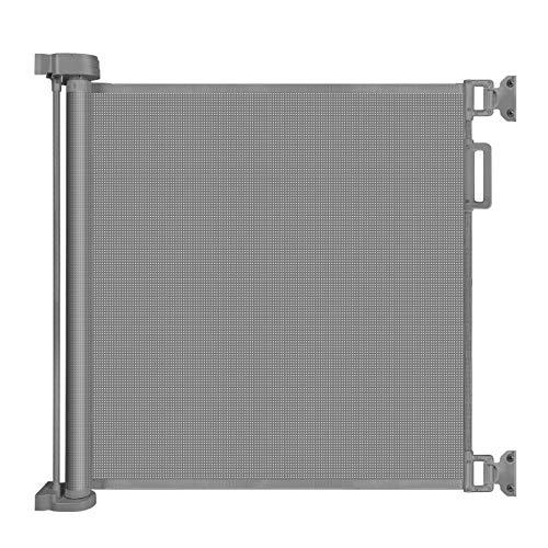 YOOFOSS Barrera Seguridad Niños 0-140 cm Puerta Seguridad Bebé Extensibles Barrera Escalera Vallas de Seguridad para Interiores y Exteriores gris