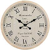 Para sala de estar / oficina / casa / decoración de cocina Simple reloj de pared del reloj de pared de madera tictac de la batería for no Operado Inicio la decoración del reloj tranquilo y no hacer ti