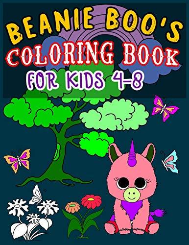 BEANIE BOO'S COLORING BOOK FOR KIDS 4-8: Super Fun Beanie Boo Coloring Book for Kids, young girls and boys | beanie boo coloring book New