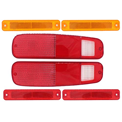 NewYall Left Right Tail Light Lens Only Taillamp Housing and Side Marker Light Fender