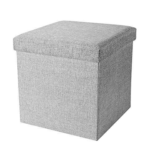 LCSJ Multifunktional Lagerhocker Faltbare Aufbewahrungsbox Kann Beherbergen Alle Arten Von Kleidung Schuhe ZubehöR Diverses(38Cm * 38Cm * 38Cm)