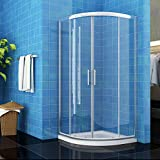 <span class='highlight'>ELEGANT</span> 900 x 900 mm <span class='highlight'>Quadrant</span> <span class='highlight'>Shower</span> Cubicle <span class='highlight'>Enclosure</span> Sliding Door 6mm Easy Clean Glass