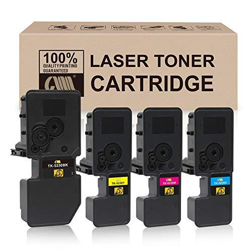 CMCMCM - Cartucho de tóner compatible con TK5230 TK-5230 TK-5220 TK5220 para impresora KYOCERA ECOSYS M5521cdw P5021cdn P5021cdw (negro/amarillo/cian/magenta)