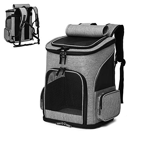 PETVE Pets backpack expandable, portable backpack breathable, mesh belt - rear pocket, scalable - acrylic visible safety belt