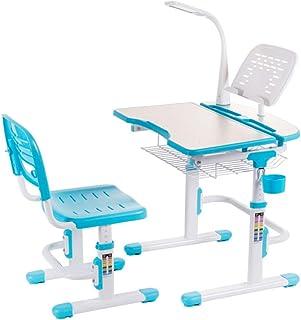 e52ba599b24f Juegos de mesas y sillas Mesa de estudio para niños con silla postural  pupitre elevador para escritorio protección ocular lámpara de mesa mesa y  silla ...