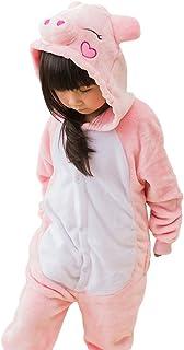 55ff5821f7868 MissFox Unisexe Combinaison Kigurumi Pyjama Enfants Anime Cosplay Fête  Costume Nuit Vêtements Porc Rosa