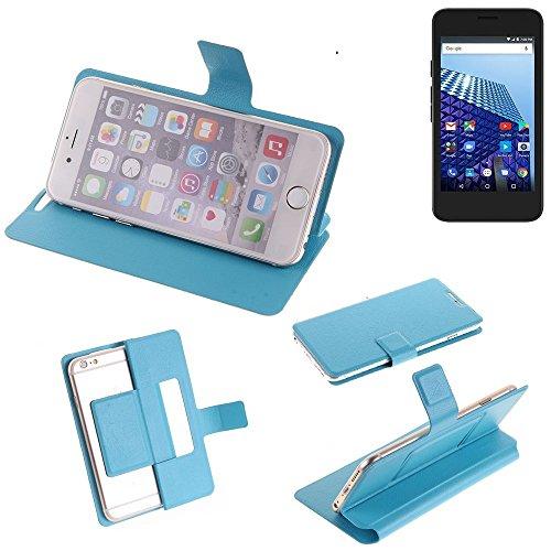 K-S-Trade® Flipcover Für Archos Access 45 4G Schutz Hülle Schutzhülle Flip Cover Handy Case Smartphone Handyhülle Blau