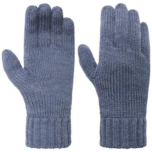 Seeberger Feinstrick Fingerhandschuhe Strickhandschuhe Damenhandschuhe (One Size - denim)