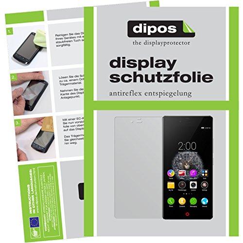 dipos I 2X Schutzfolie matt kompatibel mit ZTE Nubia Z9 Mini Folie Bildschirmschutzfolie
