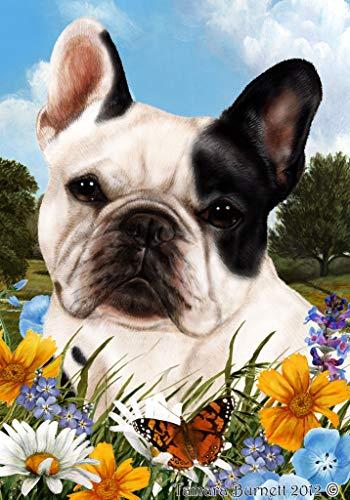 Best of Breed French Bulldog White/Black Summer Flowers Garden Flags
