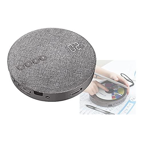 Hcyx Lettore CD con Telecomando Portatile Bluetooth Lettore CD con Cuffie Lettore CD Compatto Ricaricabile Walkman