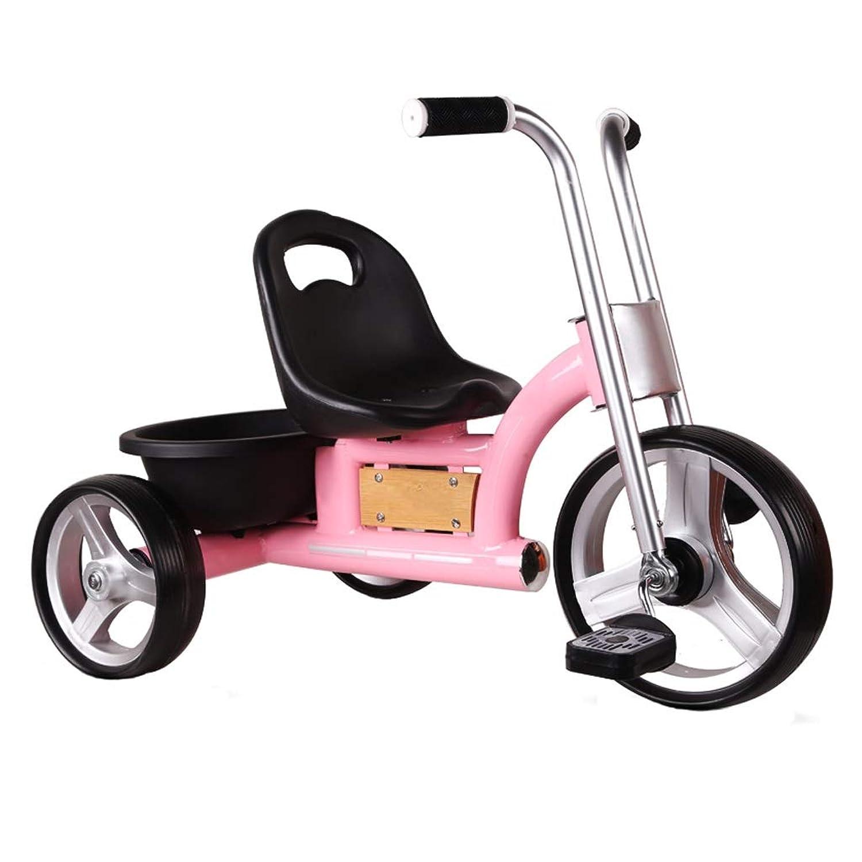 三輪車 子供の三輪車自転車ベビーカー滑り止め自転車ベビーカー赤ちゃん自転車1-2-3-5歳3ラウンド男の子と女の子三輪車自転車4色 (Color : Pink)