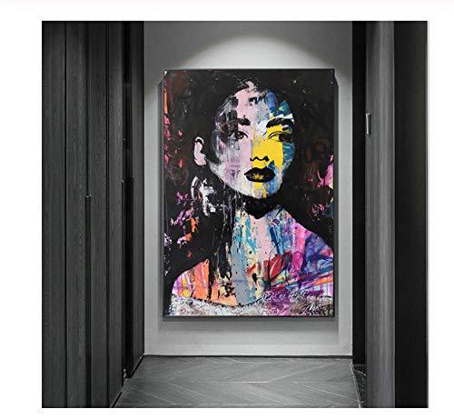 hutianyu Hoofddecoratie Moderne canvas muur gekleurde veren olieverfschilderij foto op doek voor de slaapkamer 23