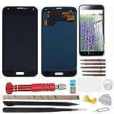 YHX-OU - Pantalla táctil LCD de repuesto para Samsung Galaxy S5 I9600 SM-G900 G900F (incluye herramientas completas), color negro