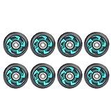 DZLXY Ruedas de Patinaje en línea de 8 Piezas, Rollos de reemplazo de Patinaje en línea con rodamientos 72 mm 76 mm 80 mm, para Adultos para Hombre para Mujer Patines Rueda de Repuesto,72