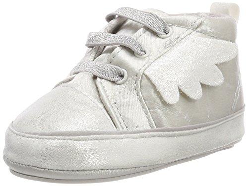 Sterntaler Baby-Schuh mit Klettverschluss für Mädchen, Alter: 4-6 Monate, Größe: 16, Farbe: Silber (Weiß), Art.-Nr.: 2301830