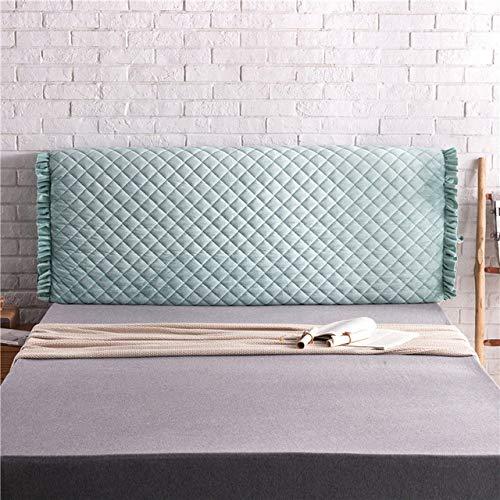 WHBDJ Funda de cama Quied para mesita de noche, con clip de algodón simple, elástico, extraíble, lavable, a prueba de polvo, cubierta de cabeza de cama, verde hierba, A, A, 150 x 65 x 30 cm