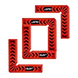 Positioning Squares, Woodworking Tool, Clamping 90 Degree Angles for Picture Frames, Boxes, Cabinets or Drawers (Set of 4) 6-Inch by TOFL