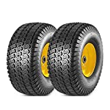 MaxAuto 2 Pcs Lawn Mower Tires 15x6.00-6 with...