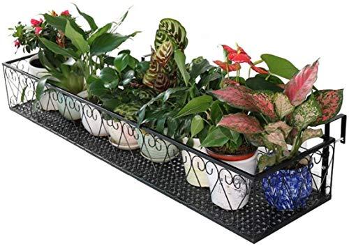 JSFQ Balkongeländer Pflanze, Stand schmiedeeisernen Zaun Blumentopf, Gartenpflanze Korb, größere Größe, super Lager, 80 * 30 * 18cm (Size : 60 * 30 * 18cm)