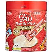 チャオ (CIAO) 猫用おやつ ちゅ~る グルメ バラエティ 14グラム (x 60)