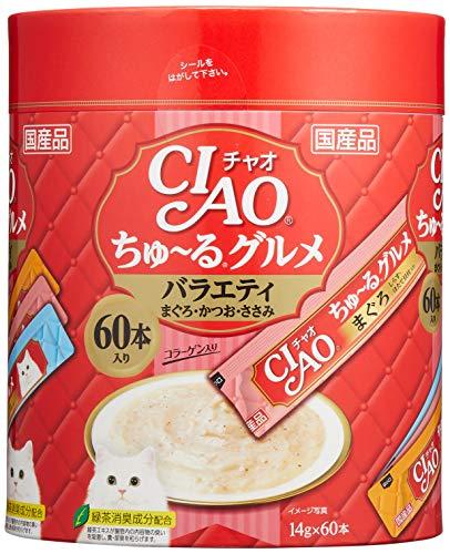 チャオ (CIAO) 猫用おやつ ちゅ~る グルメ フィッシュ 14g×60本入